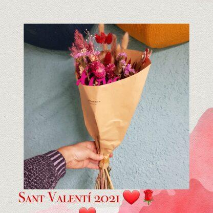 Ramo de flores secas San Valentín