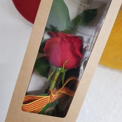 Sant Jordi 2021 i de la ROSA amb una caixa de paper Kraft decorat