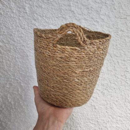 Macetero artesano de yute